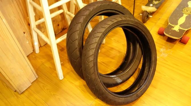 WR400Fのタイヤをディアブロに交換