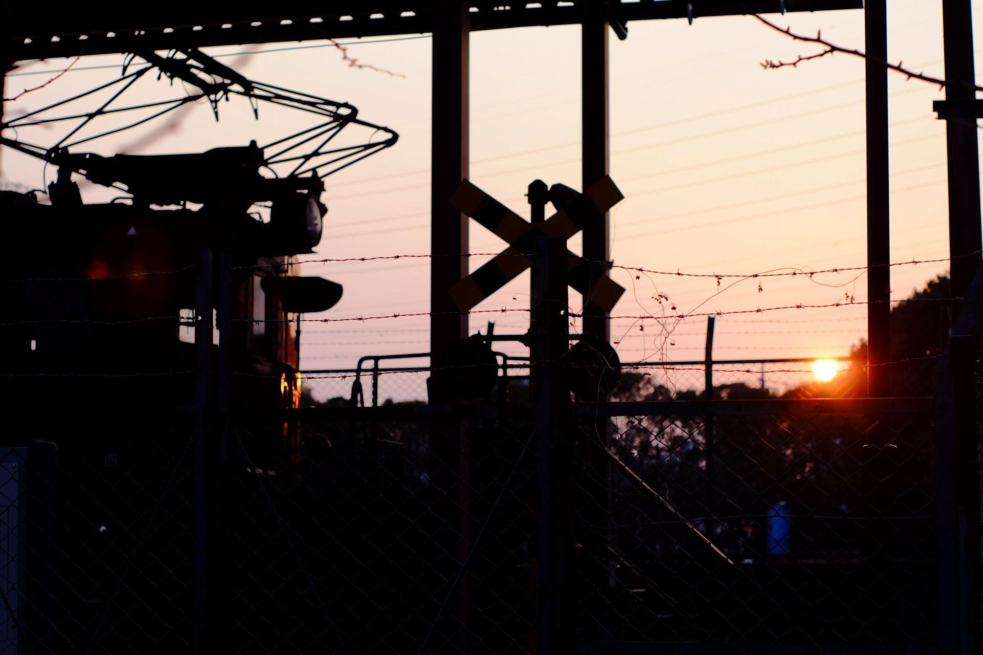 夕方のSL電車