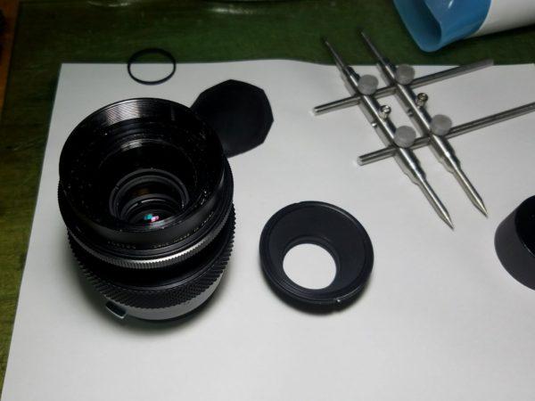 Zuiko Auto-macro 50mm F2 分解