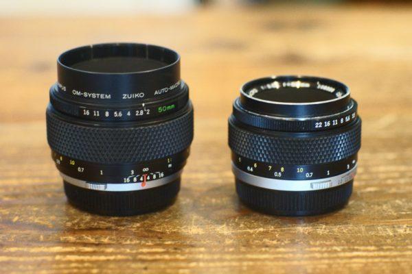 Zuiko Auto-macro 50mm F2 と F3.5