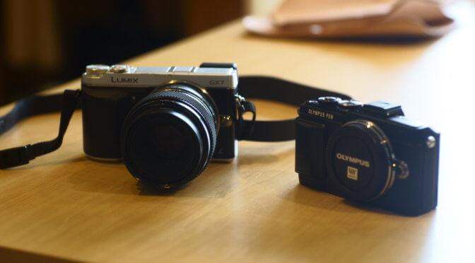 Panasonic GX7(初代) と Olympus PEN Lite E-PL7 を比較してみた