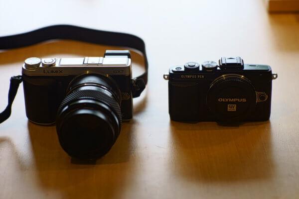 Panasonic GX7(初代) と Olympus PEN Lite E-PL7