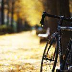 秋晴れと自転車とストーブとカメラ
